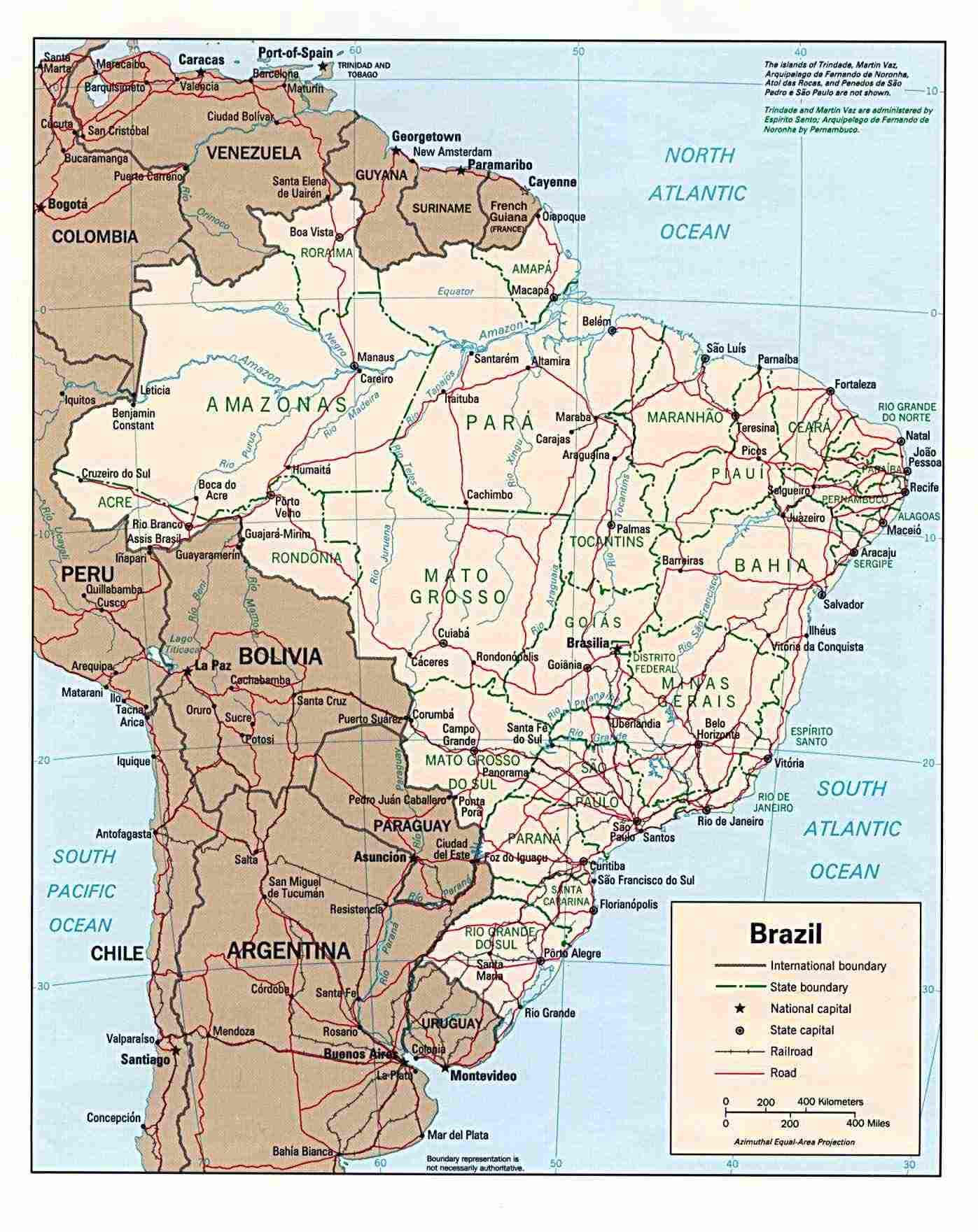 Brazilian States Abbreviations And Information - United states map with abbreviations and names
